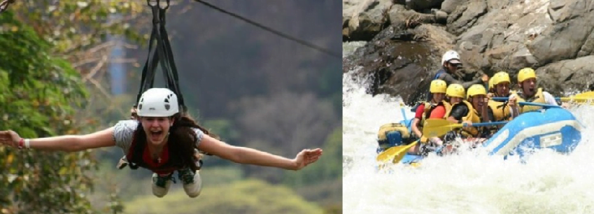 combo river rafting and ziplines,white water rafting