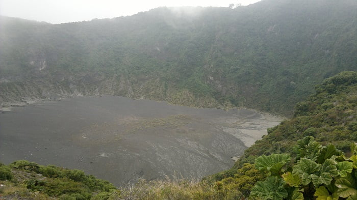 the crater of the volcano